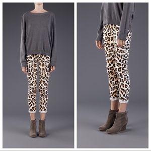 MOTHER The Looker Crop Skinny Jean in Leopard 30